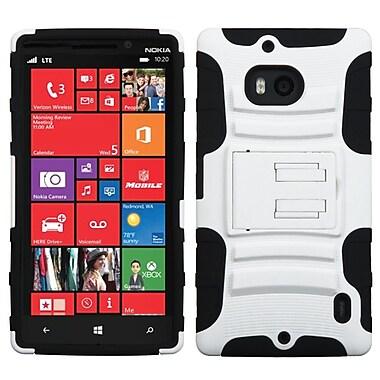 Insten® Advanced Armor Stand Protector Case For Nokia Lumia Icon 929, White/Black