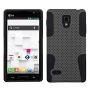 Insten® Soft Protector Case For LG P769 Optimus L9, Gray/Black Astronoot
