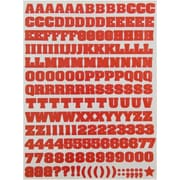 JAM Paper® Self Adhesive Alphabet Letters Stickers, Red, 372/pack (2132817356)