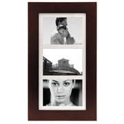 "Malden Manhattan 3-Opening Wood Collage Picture Frame, Dark Walnut, 5"" x 7"""