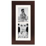 "Malden Manhattan 2-Opening Wood Picture Frame, Dark Walnut, 5"" x 7"""
