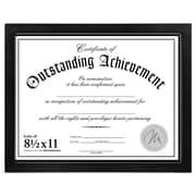 "Malden Wood Document Frame, Black, 8.5"" x 11"""