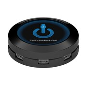 ChargeHub Super Value Pack - USB Universal Charging Station - Round, Black