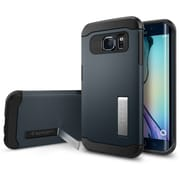 Spigen Galaxy S6 Edge Case Slim Armor, Metal Slate