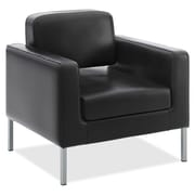 basyx by HON® VL887 Club Chair, Black SofThread™ Leather (BSXVL887SB11)