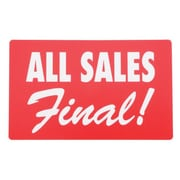 "Display Card ""ALL SALES FINAL"", Red/White, 7"" x 11"""