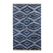 Crover Archangel Handcrafted Blue Denim Area Rug; 3' x 5'