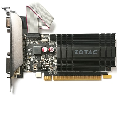 Zotac GT710 Graphic Card, Zone Edition, 1GB, DDR3, English Only (ZT-71301-20L)