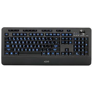 Azio - Clavier sans fil KB506W Vision rétroéclairé, grandes touches