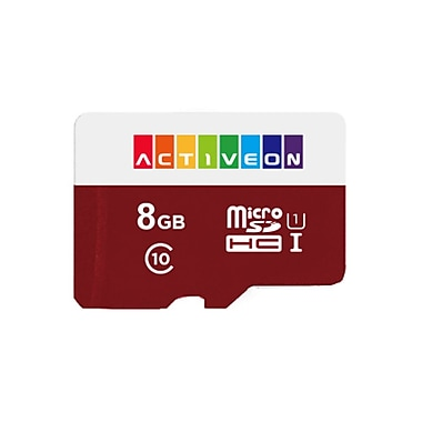 8GB SD Card for Activeon Action Camera