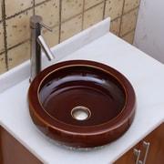 Elimaxs Chocolate Caramel Vessel Bathroom Sink; Brushed Nickel