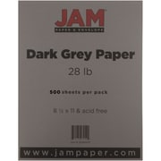 "JAM Paper® 8 1/2"" x 11"" Paper, Gray/Grey, 500 Sheets/Ream"