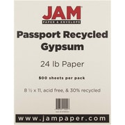 "JAM Paper® 8 1/2"" x 11"" Recycled Paper, Gypsum, 500 Sheets/Ream"
