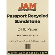 """JAM Paper® 8 1/2"""" x 11"""" Recycled Paper, Sandstone, 500 Sheets/Ream"""
