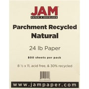 """JAM Paper® 8 1/2"""" x 11"""" Parchment Recycled Paper, Natural, 500/Ream"""