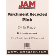 """JAM Paper® 8 1/2"""" x 11"""" Parchment Recycled Paper, Pink Ice, 500/Ream"""