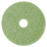 "3M Low-Speed Topline Autoscrubber Floor Pads 5000, 14"", Sea Green, 5/carton"