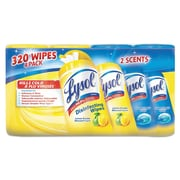 Lysol® Brand Disinfecting Wipes, Lemon/lime Blossom/ocean Fresh, 80/canister, 4/pack