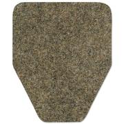 WizKid Antimicrobial Floor Mat, Urinal, 17 X 20 1/2, Brown, 48/carton
