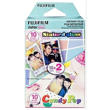 Fujifilm – Pellicule Instax Mini en maxi-format à motif vitrail et bonbon