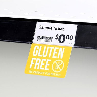 KostklipMD (S108-107130) – Coll. signature « Gluten Free », pancarte ShelfTalkerMC V2, 1,25 x 2,5 po, 3/0, 25/paq.