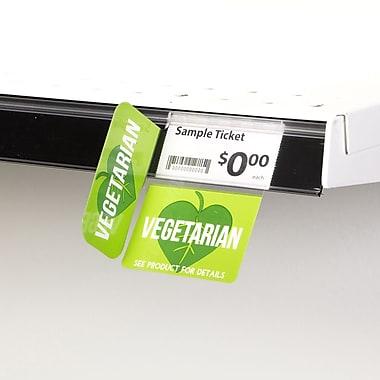 KostklipMD (S511-107213) – Coll. signature « Vegetarian », pancarte à angle droit ShelfTalkerMC, 1,25x2,5 po, 3/3, 25/paq.