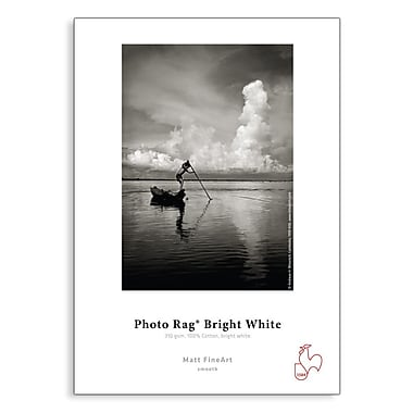 Hahnemuhle – Papier Photo Rag Bright White, 8 1/2 po x 11 po, 25 feuilles