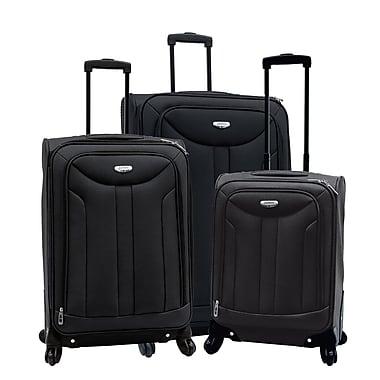 Samboro - Ensemble de valises à roues multidirectionnelles, 3 morceaux, noir