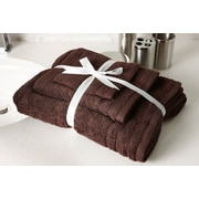Flato Home Edged Terry 3 Piece Towel Set; Chocolate