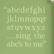 WallPops! Baby Alphabet Wall Decal; Pea Pod Green