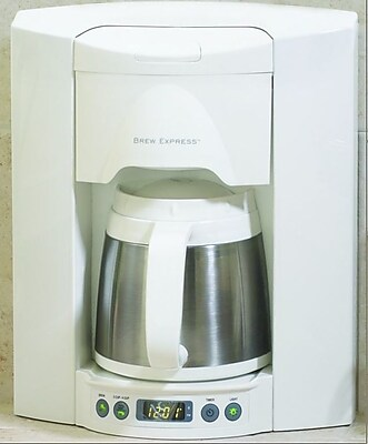 Brew Express 4 Cup Built-In-The-Wall Self-Filling Coffee and Hot Beverage System; White WYF078275627619