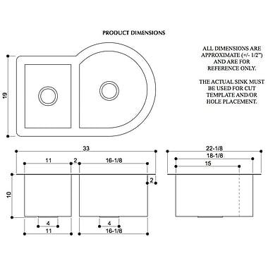 D'Vontz Copper 33'' x 22'' Nautilus Single Bowl Kitchen Sink; Shiny Copper
