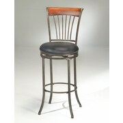 Hillsdale Riley 26'' Swivel Bar Stool with Cushion