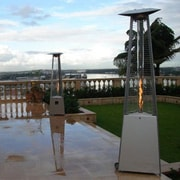 AZ Patio Heaters Commercial Glass Tube Propane Patio Heater; Stainless Steel