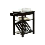Hokku Designs Waldon 1 Drawer End Table; Black