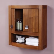 DecoLav Gavin 23'' W x 26'' H Wall Mounted Cabinet; Medium Walnut