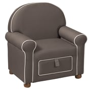 HomePop Kids Storage Arm Chair; Medium Gray