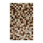 Natural Rugs Barcelona Cowhide Brown/White Area Rug