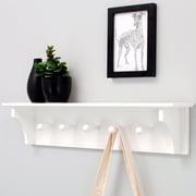 nexxt Design Foster Wall Shelf with 5 Peg; White