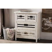 Wholesale Interiors Rococo Shabby Elegance 4 Drawer Storage Cabinet