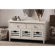 Wholesale Interiors Rococo Shabby Elegance 5 Drawer Storage Bench