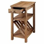 Hokku Designs Waldon 1 Drawer End Table; Rustic Oak
