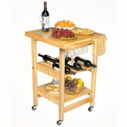 Oasis Concepts Entertainer Folding Kitchen Cart with Wine Storage