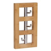 Household Essentials Bamboo Vertical 3-Hook Wall Coat Rack