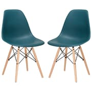 Edgemod Side Chair (Set of 2); Teal