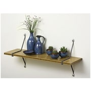 Aderet Single Bamboo Shelf w/ Diagonal Brackets