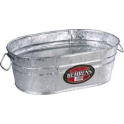 Behrens Hot Dipped Steel Oval Tub; 5.5'' H x 15.5'' W x 9.5'' D