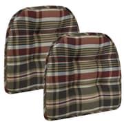 Klear Vu Gripper Tufted Chair Cushion (Set of 2); Red