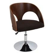 LumiSource Ava Arm Chair; Walnut / Brown