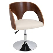 LumiSource Ava Arm Chair; Walnut / Cream